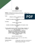 Jugement de la Cour suprême donnant 12 mois à l'Alberta pour modifier sa loi sur la vie privée