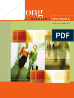 Strong Interest Inventory Manual 2012 Supplement