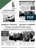 Versión impresa del periódico El mexiquense 15 noviembre 2013