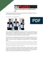 14-11-2013 Sexenio Puebla - Moreno Valle firma convenio de colaboración con Bancomext