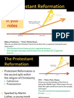 WebNotes - 2013 - Causes and Effects of the Reformation