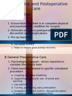 Preoperative and Postoperative Care