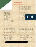 HSC Trigonometric Formulae