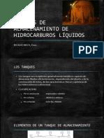 TANQUES DE ALMACENAMIENTO DE HIDROCARBUROS LÍQUIDOS---- EXPOSICON