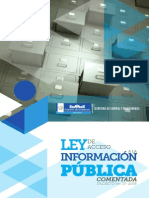 Ley Acceso a La Informacion Publica Comentada