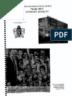 Papillion High School Sports Summary Booklet