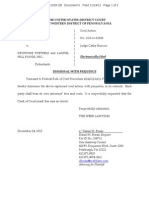 Friend v. Keystone Pretzels - Notice of Dismissal