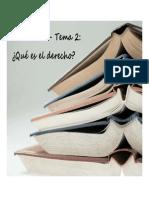 Introducción al Derecho - UNIDAD 1 (temas 2 y 3)