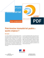2011 Patrimoine Immateriel Public Quels Enjeux PC 12 2011