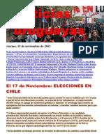 Noticias Uruguayas Viernes 15 de Noviembre Del 2013