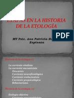 1. ETAPAS EN LA HISTORIA DE LA ETOLOGÍA(1)