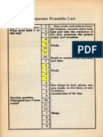 Benjamin Franaklin List