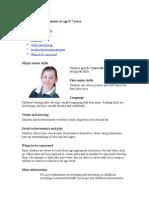 Developmental Milestones at Age 5