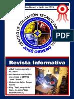 CETPRO JOSÉ OBRERO - 2013 Edición N° 001