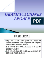 GRATIFICACIONES 2013