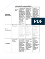 newsletter and presentation rubric