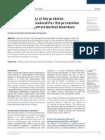 Eficacia y Seguridad de Saccharomyces Boulardii