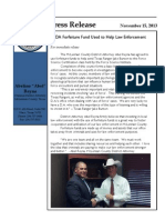 DA Forfeiture Fund Helping Law Enforcement