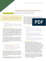 28 Common Racist Attitude and Behaviors