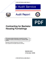 """Contracting for Bachelor Housing Furnishings"""