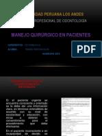 MANEJO QUIRÚRGICO DE PACIENTES