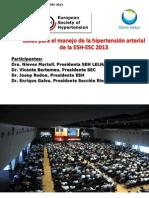 Presentacion Nuevas Guias Tratamiento Hipertension ESH-ESC 2013