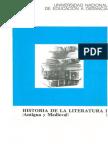UNED - Historia de La Literatura I- I