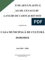 Expozitii, lansari de carte in CMC Dorohoi