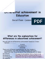 Differential Achievement-Class 2011
