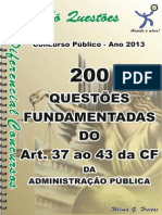 QUESTÕES - ADM. PÚBLICA - ART. 37 ao 43 da CF - apostila amostra