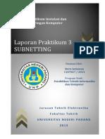 Jobsheet 3 - Subnetting