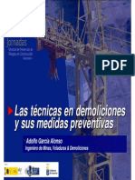 Tecnicas Demoliciones y Medidas Preventivas