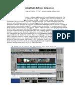 Recording Studio Software Comparison