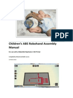 Childrens ABS Robohand Assembly Manual