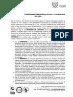 FORMATO DE CONVENIO DE PRÁCTICAS - MARCO