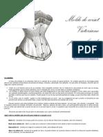 Molde de Corset Victoriano Personalizado