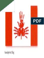 hand print canadian flag 1