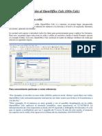 Introducción al OpenOffice Calc