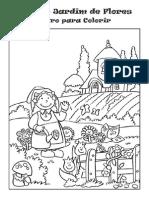 Anna e o Jardim de Flores - Livro Para Colorir