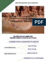 2.1 Ambientes Sedimentarios Clasticos - Abanicos Aluviales