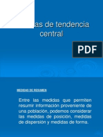 Clase Medidas de Tendencia Central 2013