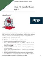 Cara Mengembalikan File Yang TerHidden Virus Dengan CMD - Teknomumed