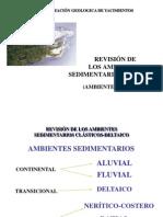 2.3 Ambientes Sedimentarios Clasticos - Ambiente Deltaico