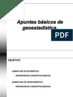 Apuntes de geoestadística