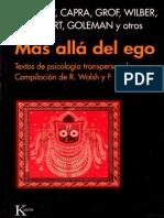 Mas Alla Del Ego - Textos de Psicologia Transpersonal