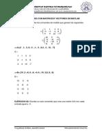 Operaciones Con Matricesy Vectores en Matlab