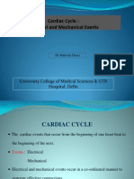 Cardiac Cycle Electrical Mechanical Events