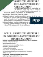 Rolul Asistentei Medicale in Ingrijirea Pacientilor Cu Diabet