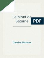 Charles Maurras - Le Mont de Saturne