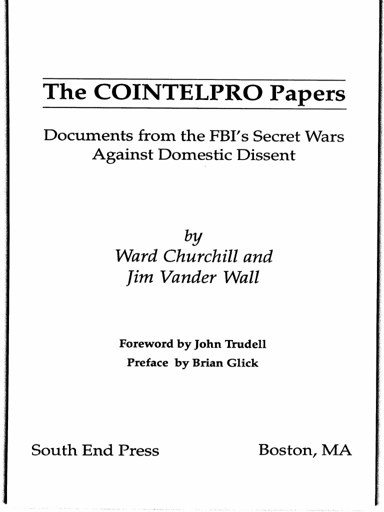 an introduction to the analysis of cointelpro counterintelligence program Read ipk director eric klinenberg's introduction here  with the federal government than the counterintelligence program (cointelpro)  about fbi and state department tactics, or davis's searing analyses of the inner.